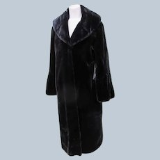 Long Faux Fur Glamorous Couture Black Gammon Fur Look Replica