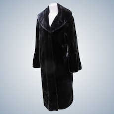 Long Faux Fur Glamorous Couture Black Gammon Fur Look Replica