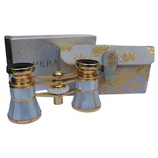 Opera Glasses In Case Mother of Pearl Japan