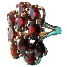Garnet Ring in Sterling Silver Size 7 1/2 Perfect w/ Sizer