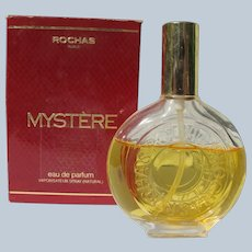 Boxed Perfume Rochas Mystère Created in 1978 Parfum 3/4 Full
