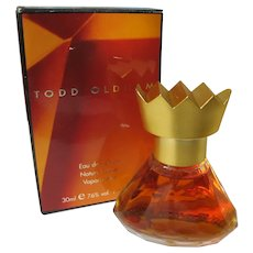 Boxed Perfume Todd Oldham 1990's Unused 1 FL Oz. Crown Top Hard to Find