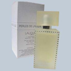 Lalique Perfume Spray French Perfume Boxed Unused Perles