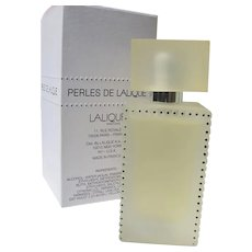 Lalique Perfume Spray French Perfume Boxed Unused Perles