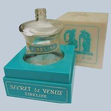 Boxed Perfume Bottle Empty Vintage Weil Secret de Venus Ziebeline
