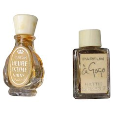 Mini Perfume Bottles Hattie Carnegie and Vigny 1930's 40's Hard to Find
