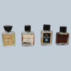 Mini Perfume Bottles Rodger Gallet, Gres Sterle 1920's 30's
