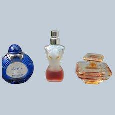 Mini Perfume Bottles w/ perfume Gaultier Boucheron Tresor
