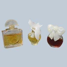 Mini Perfume Bottles with Perfume Lalique Nina Ricci Nipon 1980's 90's