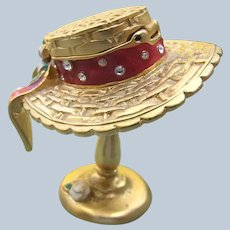 Estee Lauder Solid Perfume Sun Bonnet Hat 2000 Perfect Pleasures