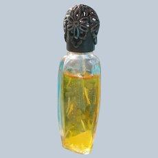 Boxed Perfume Bottle Chant Des Iles Paris Perfect Etched Glass Unused