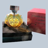 Cartier Perfume Bottle Boxed Small Perfect Le Baiser Du Dragon 1980's