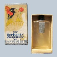 Myrurgia Perfume Bottle Boxed Vintage Jungla Perfect Deco Era.