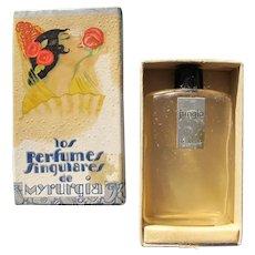 Myrurgia Perfume Bottle Boxed Vintage Jungla Perfect Deco Era.