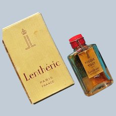 Lentheric Boxed Perfume Bottle Sealed 1930's Bakelite top Mini Perfume Labels