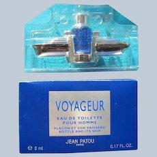 "Jean Patou Flacon Mini Bottle with Ship Boxed ""Voyageur"" 1994"