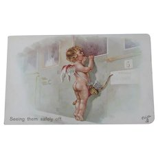 Valentine's Day Post card Tucks Unused Oilette