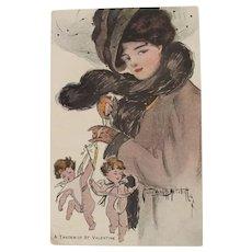 Valentine's Postcard Sadie Wendell Mitchell 1906