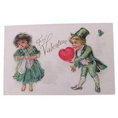 Valentine's Postcard Frances Brundage Artist 1910
