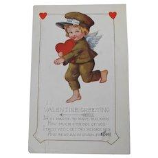 Valentine's Day Postcard Cherub from Western Union