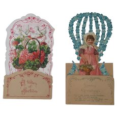Two Valentines Day Fold Out Cards 1900