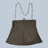1910 Mesh Purse Not perfect Engraved Name and City Very Fine Mesh