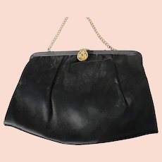 1940-50's Satin Purse with Chain and Jeweled Latch
