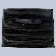 Black Satin Clutch Purse Simple Elegant Vintage
