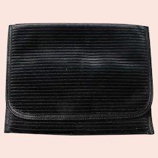 Black Satin Clutch Purse Simple Elegant Vintage
