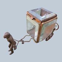 French Jewelry Watch Box with Ormolu Brass Monkey