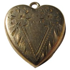 Locket Heart Shaped Marked P&K Woman's Picture