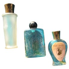 Two Coty Mini and White Shoulders Perfume Bottles 1930-1960