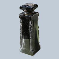 Lalique Perfume Bottle Ambre for D'Orsay in Black Crystal Glass  1920's