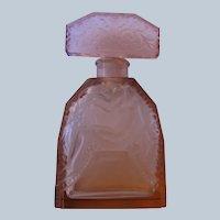 Czechoslovakian Perfume Bottle Hoffman Crystal Bird Stopper Butterfly Logo