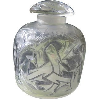R Lalique Perfume Bottle Epines France in Gray Stain