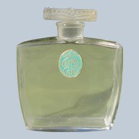 Coty Perfume Bottle 1920's Chypre de Coty Bee's on Stopper Perfect