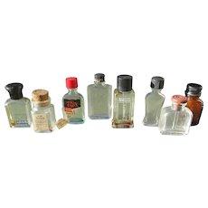 Various Small Bottles Medicinal Perfume Bottles Mix of Eight