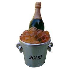 Estee Lauder Solid Perfume 2000 Champagne Bottle