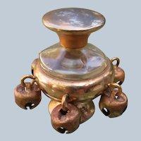 """Coty Perfume Bottle """"Tzigana"""" 1920 Jingle Bells"""
