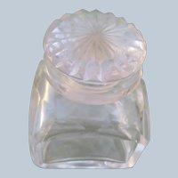 Vintage Perfume Bottle Heavy Clear Glass