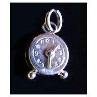 Vintage Sterling Miniature Wind Up CLOCK Charm Big Ben