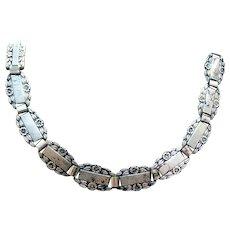 WWII Sterling Silver Forget-Me-Not Friendship Bracelet