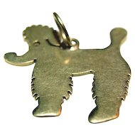 UNIQUE 14K Gold Poodle Dog Charm Pendant