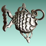 MAISELs Sterling Tropical Angel Fish Charm Pendant