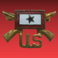 WWII Army Infantry Enamel Son in Service Pin RIFLES