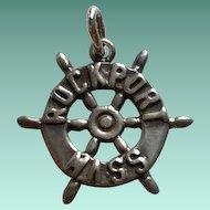 Ella Cone Sterling Silver Ships Wheel ROCKPORT Mass Charm