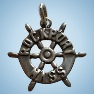 Ella Cone Sterling Silver Ships Wheel ROCKPORT Mass Charm
