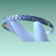 Felch & Co. DANECRAFT Sterling Double HEART Bangle
