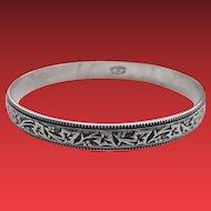 Felch & Co DANECRAFT Sterling Ivy Vine BANGLE Bracelet