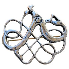 David Andersen Norway Sterling VIKING Style Serpent Pin